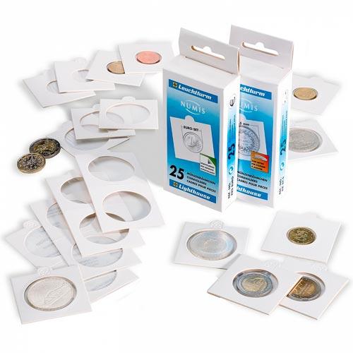 exemple d'étuis cartonnés pour ranger des monnaies
