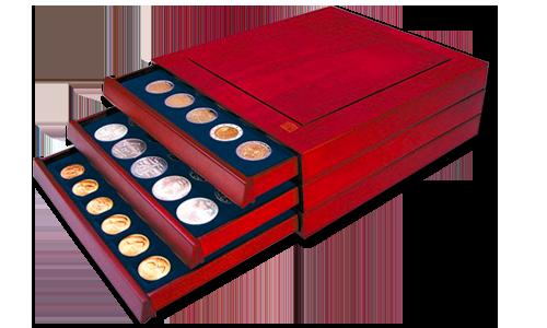 Médaillier Nova Exquise en bois de Safe pour ranger vos monnaies